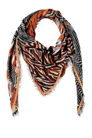 sjaal met all over print rood