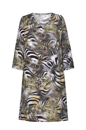 jurk Dress met all over print multi