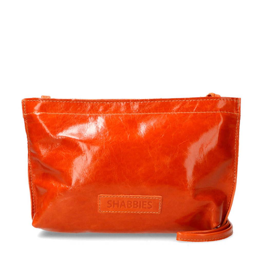 Shabbies Amsterdam  leren crossbody tas oranje, Oranje