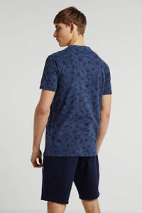 LERROS regular fit polo met all over print donkerblauw, Donkerblauw
