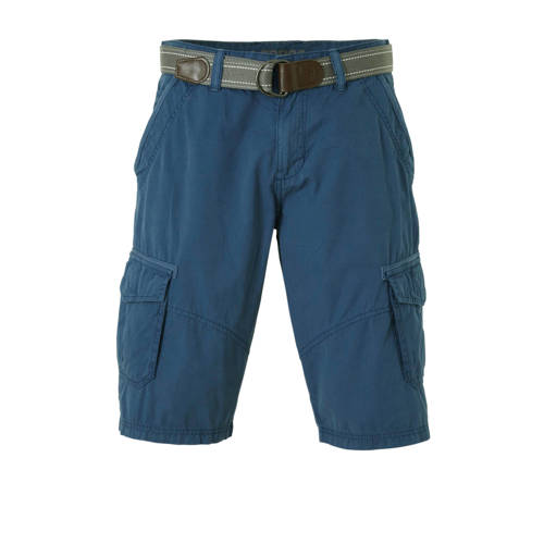 LERROS regular fit cargo bermuda donkerblauw