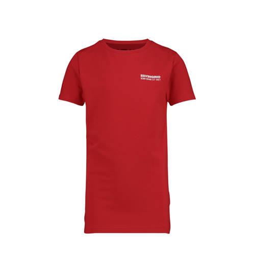 Vingino T-shirt Haaris met logo warm rood