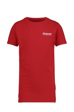 T-shirt Haaris met logo warm rood
