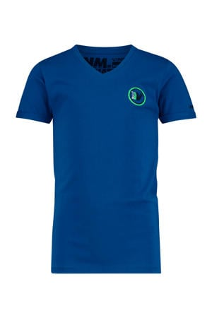 T-shirt Hasis met logo hardblauw