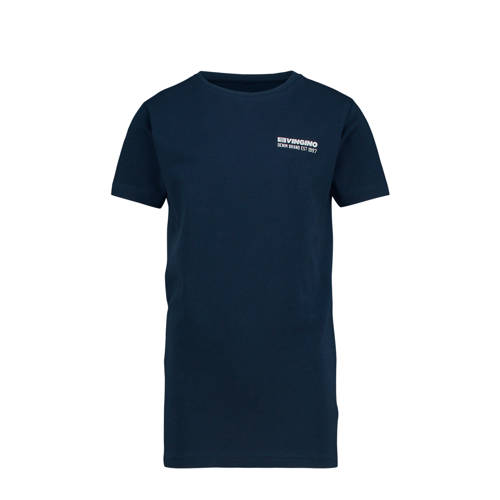 Vingino T-shirt Haaris met logo donkerblauw/wit