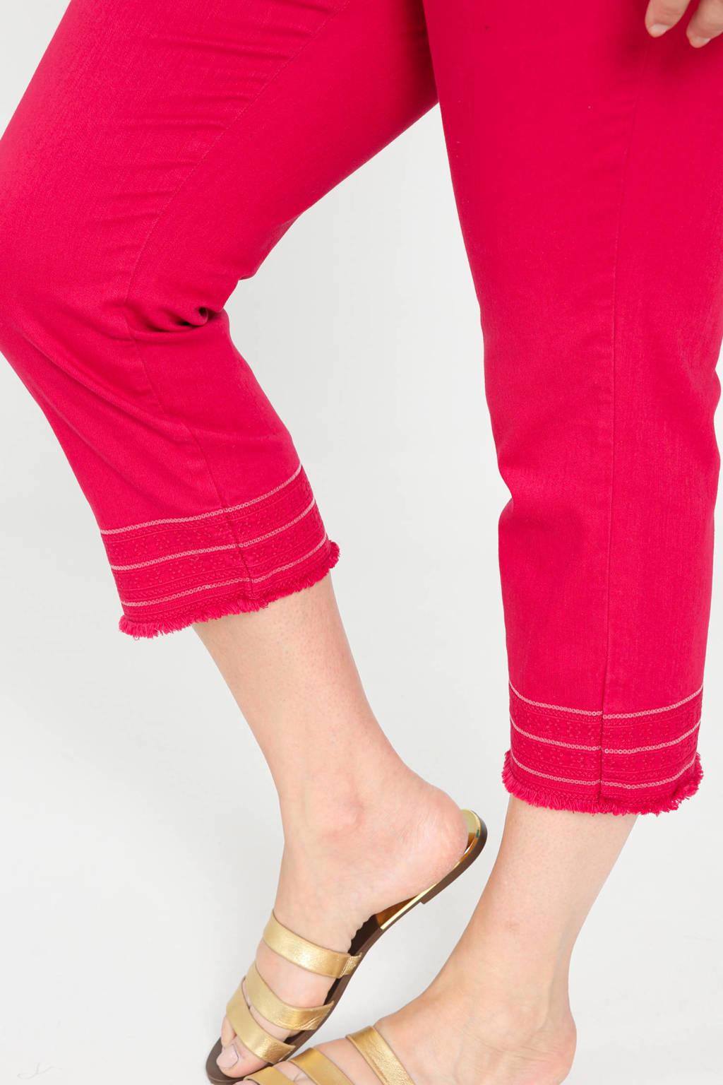 Paprika high waist straight fit capri rood, Rood