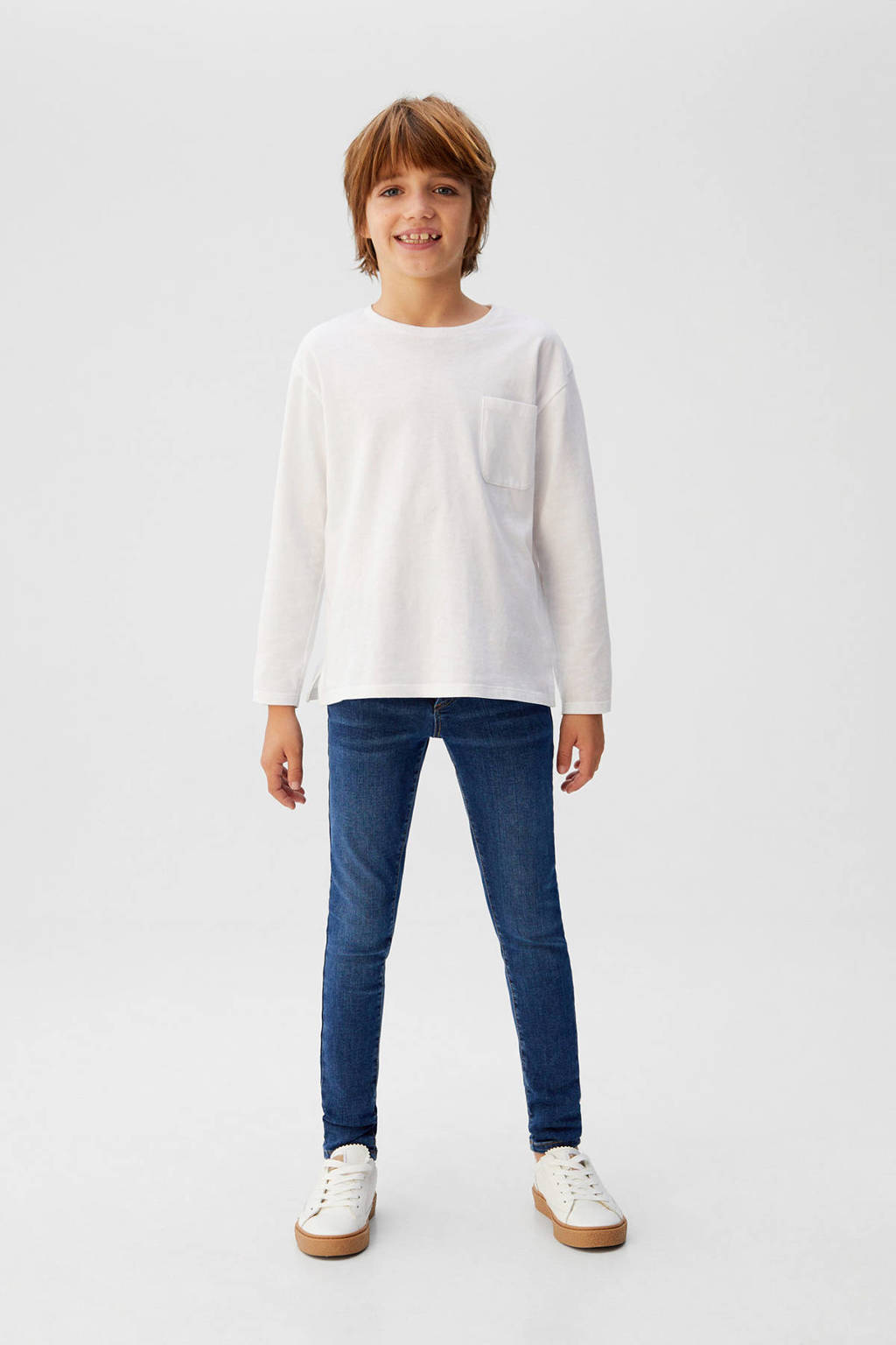 Mango Kids super skinny jeans donkerblauw, Donkerblauw