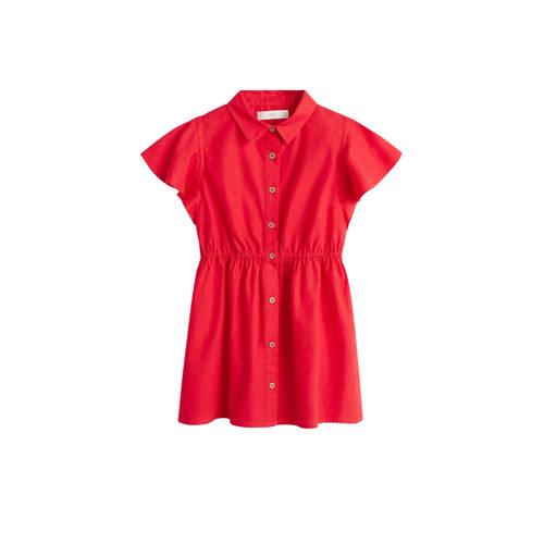 Mango Kids blousejurk rood