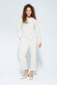 Violeta by Mango sweater met tekst wit, Wit