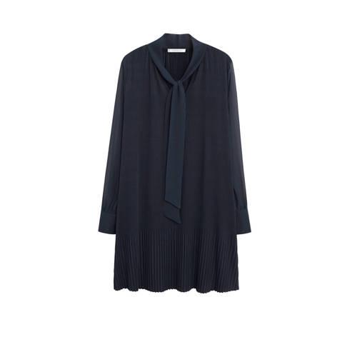 Violeta by Mango jurk met plooien middenblauw