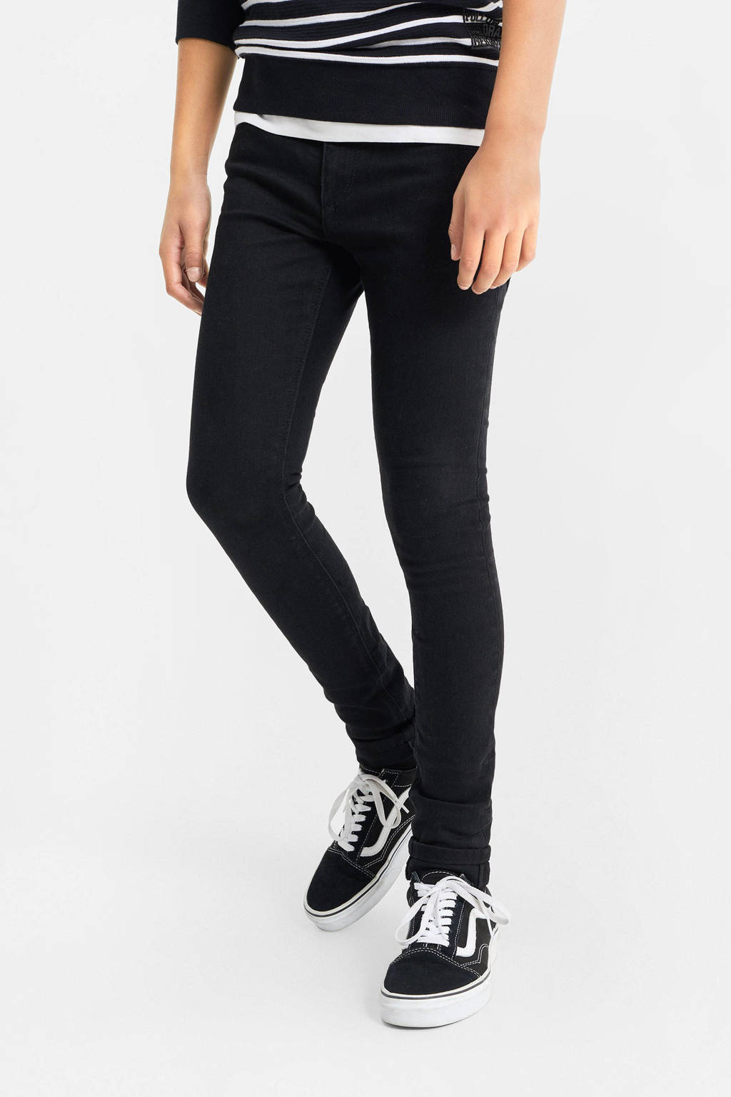WE Fashion Blue Ridge super skinny jeans zwart, Zwart