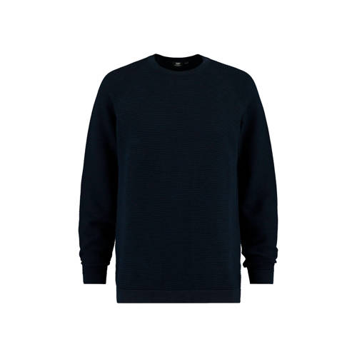 America Today trui met structuur donkerblauw