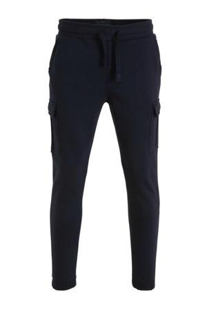 regular fit jogging broek met biologisch katoen blauw