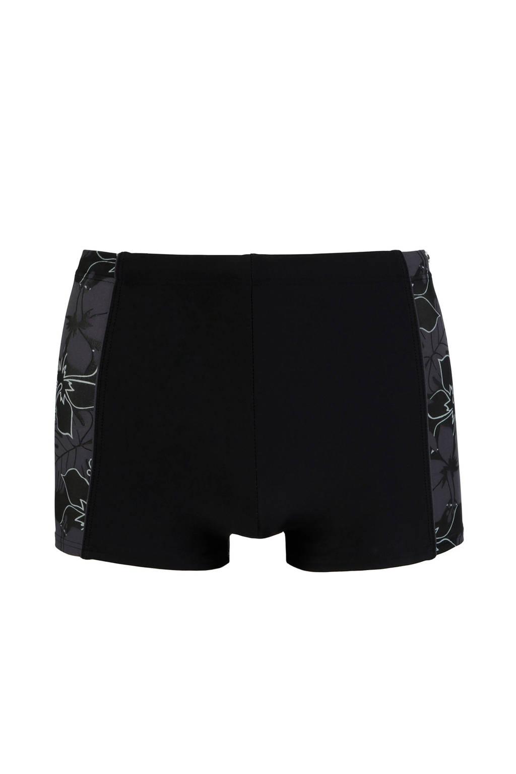 s.Oliver zwemboxer met all over print zwart, Zwart