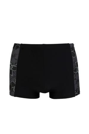 zwemboxer met all over print zwart