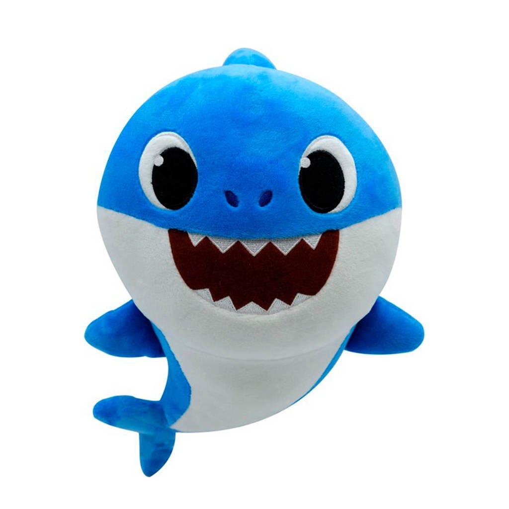 Baby Shark Daddy Shark interactieve knuffel, Blauw