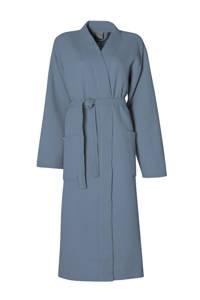 Seahorse katoenen badjas met wafel structuur blauw, Blauw