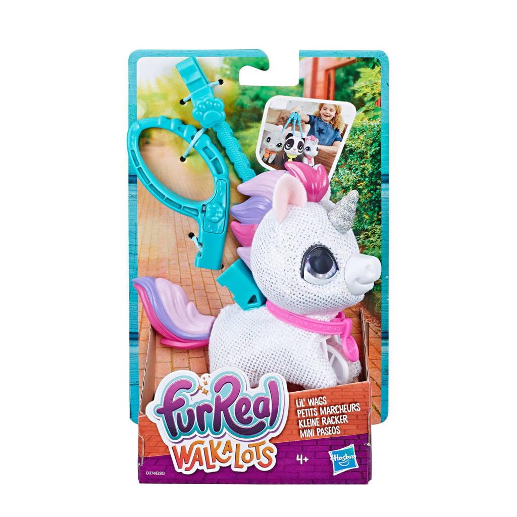 FurReal Friends Walkalots Lil Wags Eenhoorn interactieve knuffel, Wit