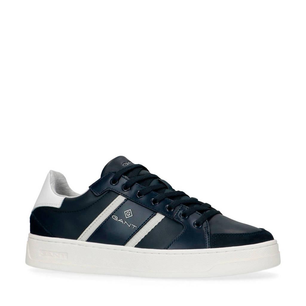 GANT Le Brook  leren sneakers donkerblauw, Donkerblauw/wit
