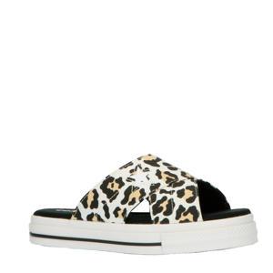One Star Sandel Slip slippers wit/panterprint