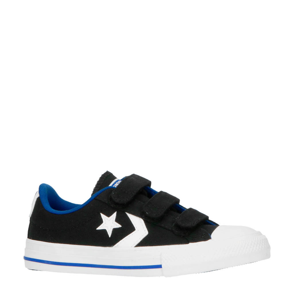 Converse Star Player 3V OX  sneakers zwart/wit/blauw, Zwart/wit/blauw