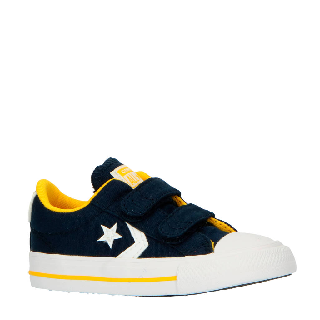Converse Star Player 2V OX sneakers donkerblauw/geel, Donkerblauw/geel