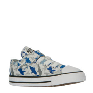 Chuck Taylor All Star 1V Hi sneakers met haaienprint/grijs