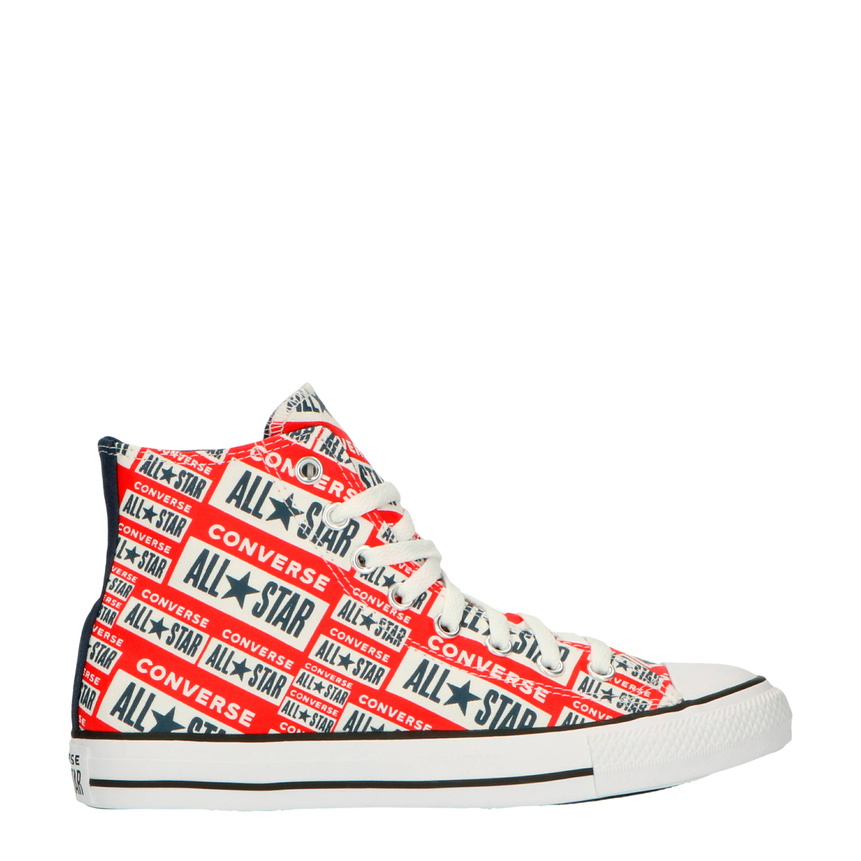 Chuck Taylor All Star Hi sneakers met logoprint rood