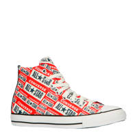 Converse Chuck Taylor All Star Hi sneakers met logoprint rood, Rood/wit/blauw