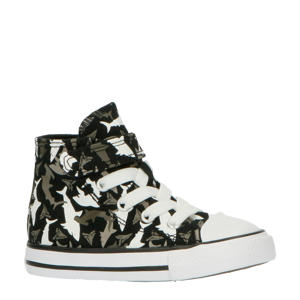 Chuck Taylor All Star 1V Hi sneakers zwart/haaienprint