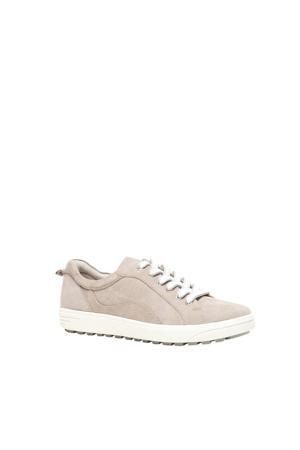 comfort leren sneakers beige