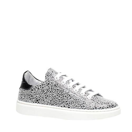 Scapino Groot leren sneakers wit/zwart
