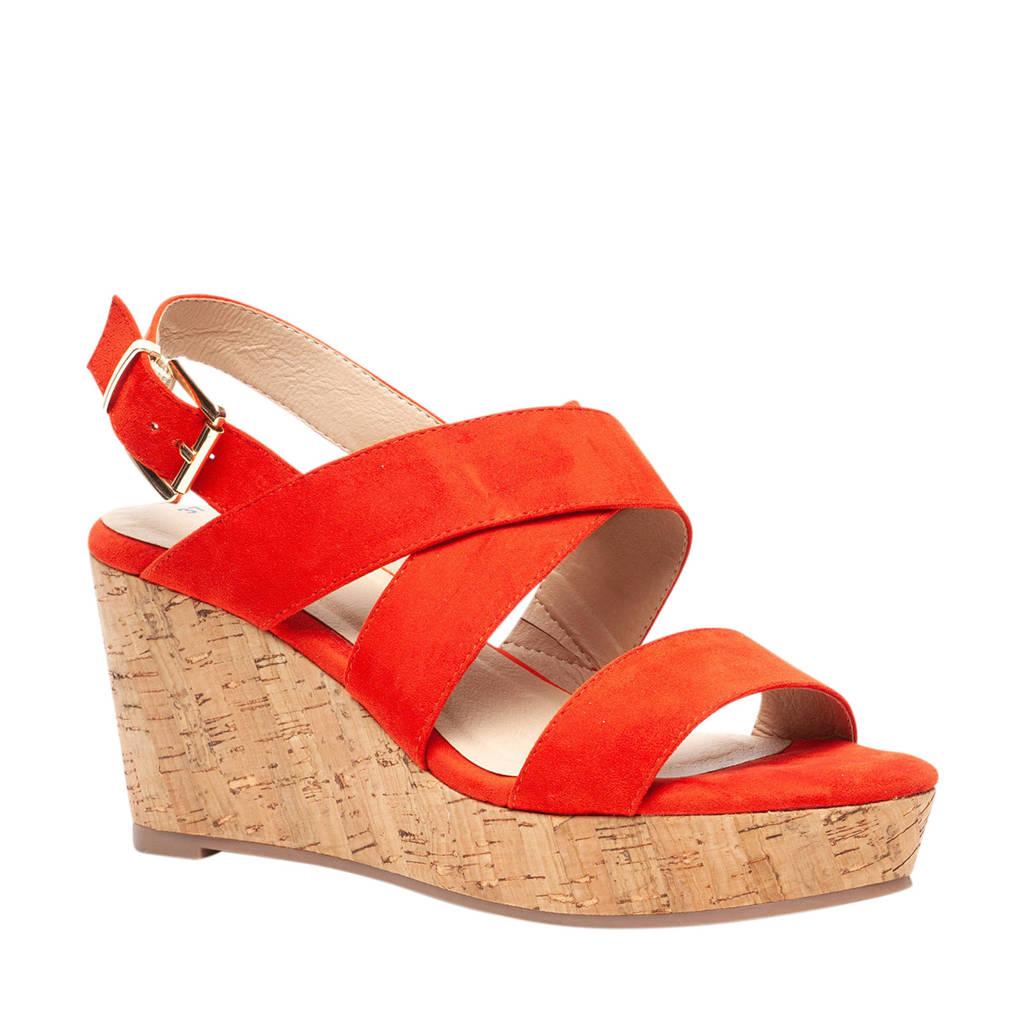 Scapino Blue Box   sandalettes koraalrood, Koraalrood