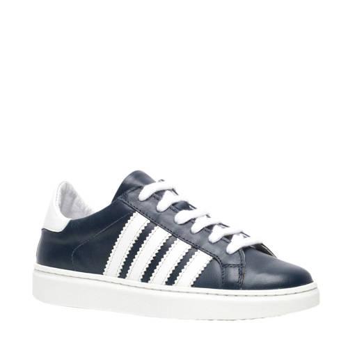Scapino Groot leren sneakers blauw/wit