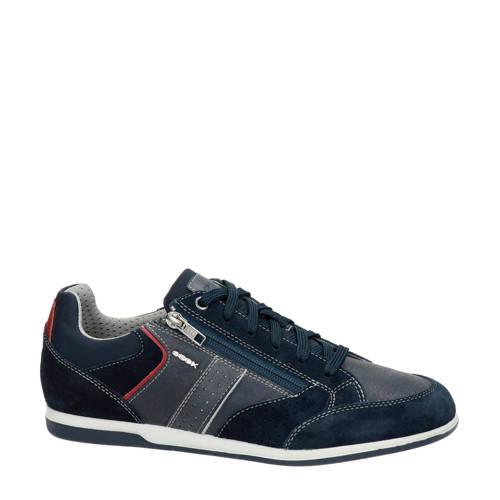 Geox Renan su??de sneakers blauw