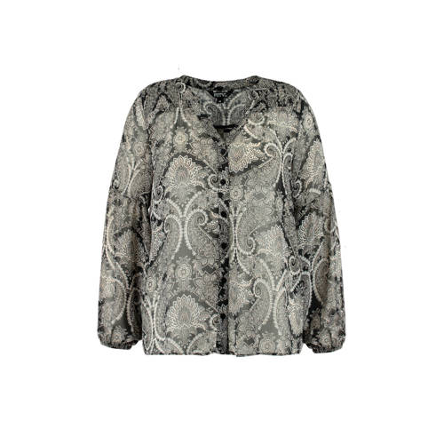 MS Mode blouse met all over print cr??me