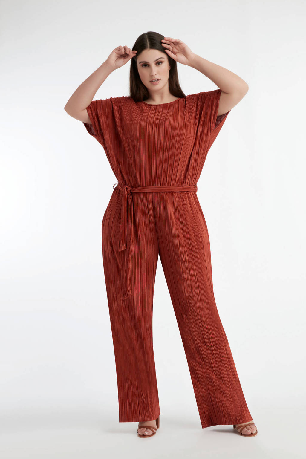 MS Mode jumpsuit roodbruin, Roodbruin