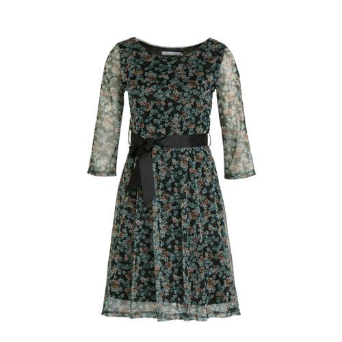 LOLALIZA gebloemde semi-transparante A-lijn jurk g