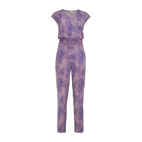 CKS jumpsuit met all over print blauw/roze