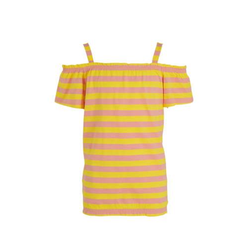 s.Oliver gestreept T-shirt geel/roze