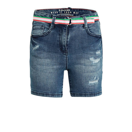 s.Oliver slim fit jeans short stonewashed