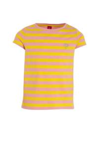 s.Oliver gestreept T-shirt geel/roze, Geel/roze