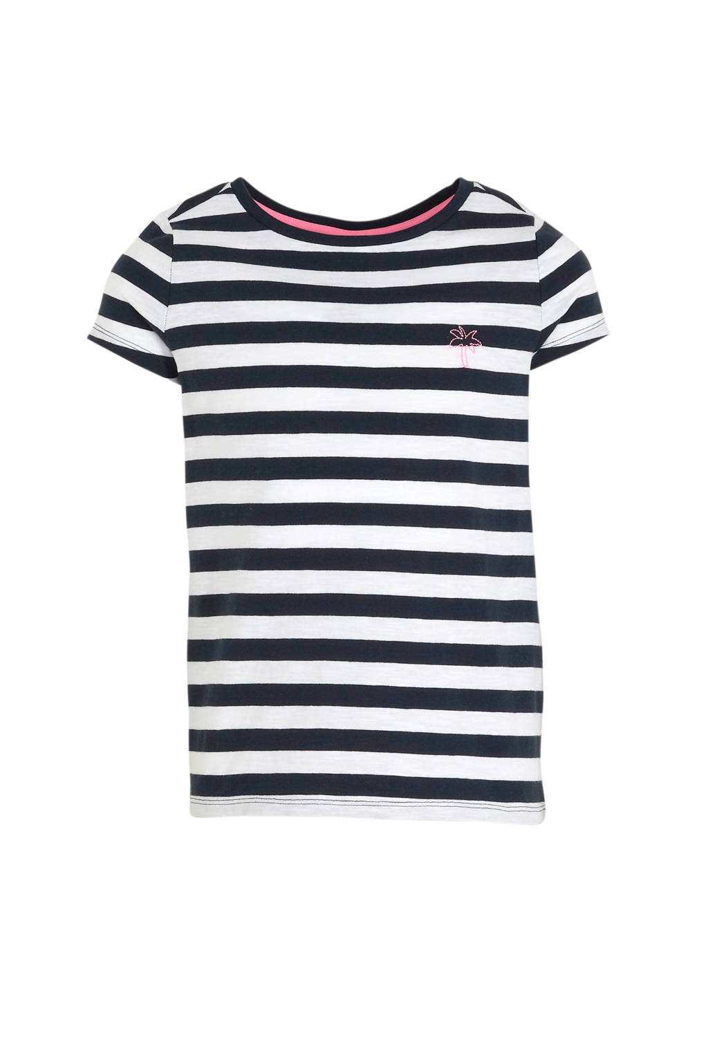 s.Oliver gestreept T-shirt donkerblauw/wit, Donkerblauw/wit