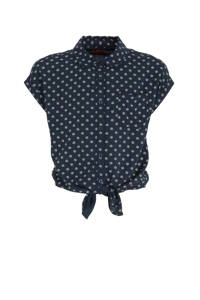 s.Oliver blouse met stippen donkerblauw/wit, Donkerblauw/wit