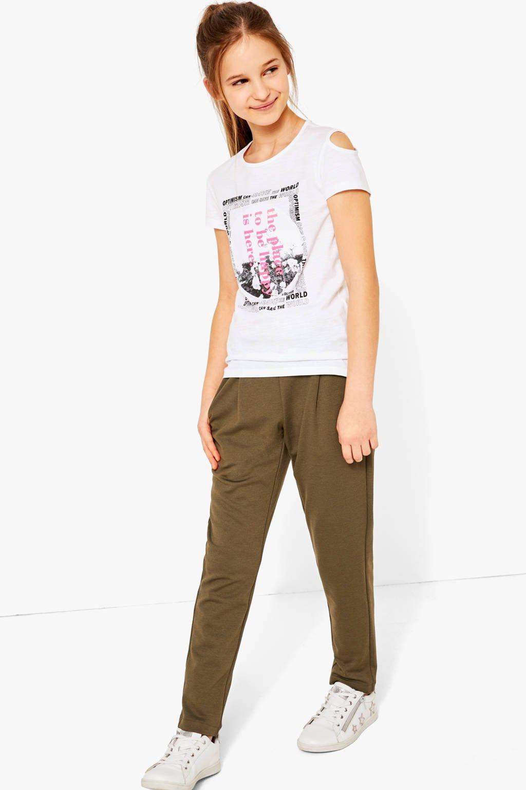s.Oliver T-shirt met printopdruk wit, Wit