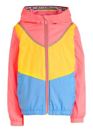 zomerjas met pailletten roze/blauw/geel