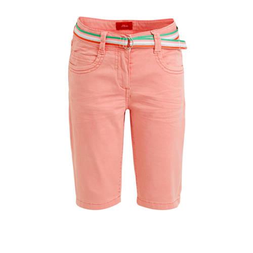 s.Oliver jeans short lichtroze