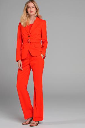 blazer met ceintuur oranje