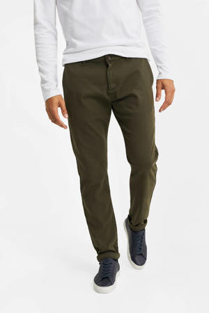 slim fit chino donkergroen