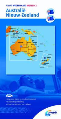 ANWB wegenkaart Wereld 2. Australië/Nieuw-Zeeland - ANWB